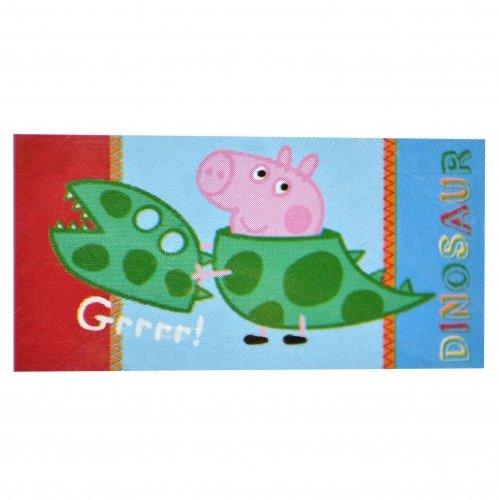 Carácter Peppa Pig George Dinosaurio 'Rugido' impresa 100% algodón toalla de playa
