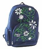 God's Girl Blue Flower Backpack Bookbag