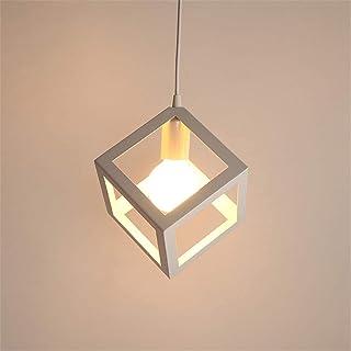 Lustre Suspensions en forme de cube, Suspension Luminaire Industrielle,Vintage Industrielle Plafonnier en Créatif Métal Ba...
