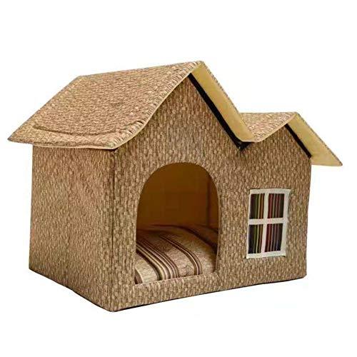 犬小屋 小さな犬の家 室内 ペットハウス 三角屋根 猫 犬 小屋 ペット ドッグハウス ふわふわ 滑り止め 柔らか 簡易 折りたたみ 取り外し可 屋根付き 可愛い 洗える 人気 保温布団 寝袋
