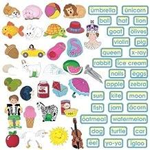 Little Folk Visuals ABC Phonics Precut Flannel/Felt Board Figures, 62 Pieces Set