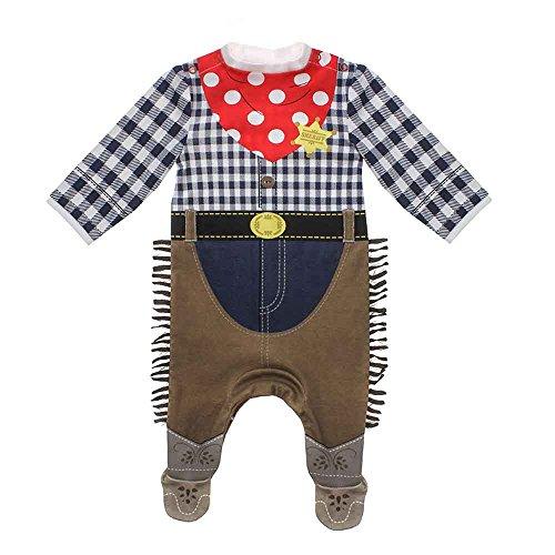 Moozels - Disfraz de cowboy para bebé vaqueros Talla:18-24 meses