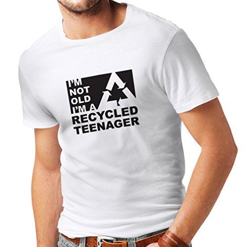 lepni.me Heren T-shirt Ik ben niet oud Ik ben een gerecycleerde tiener - Verjaardagscadeau