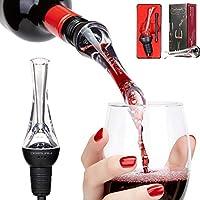 BeRicham ワインエアレーターポアラー プレミアムワインポアラー デキャンタ ワインエアレーター用 即座に完璧なギフト ワイン愛好家/ワインアクセサリー FDA承認 ギフトボックス付き