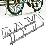 SAILUN Bicicleta Soporte para 4 Bicicletas de Suelo y Pared Montaje más Soporte Triple Twin Bicycle Stand