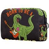 Travel Cosmetic Bag Portable, Cute Toiletry Organizer Travel Makeup Bag for Women Dinosaur Rock