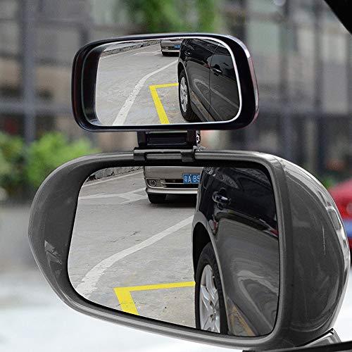 Gjcjy Auto Blind Spot Spiegel Brede Hoek Spiegel Verstelbare Convex Achteruitkijkspiegel voor Veiligheid Parkeerplaats Auto Spiegel YSR039,Zwart, 12x6cm