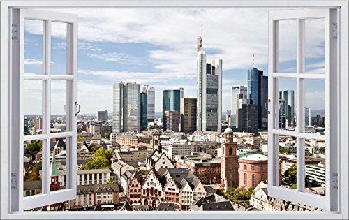 Frankfurt Stadt Skyline City Wandtattoo Wandsticker Wandaufkleber F0307 Größe 70 cm x 110 cm