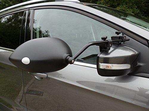 Milenco Aero Extra-Wide Convesso Specchio Traino Clamp-on Confezione Doppia per la Maggior Parte dei Veicoli