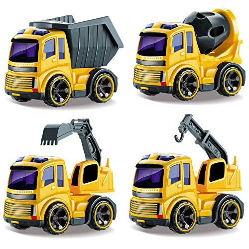 Cheapest Price! BeebeeRun Friction Powered Trucks Push and Go Construction Vehicles Car Toys Tractor...