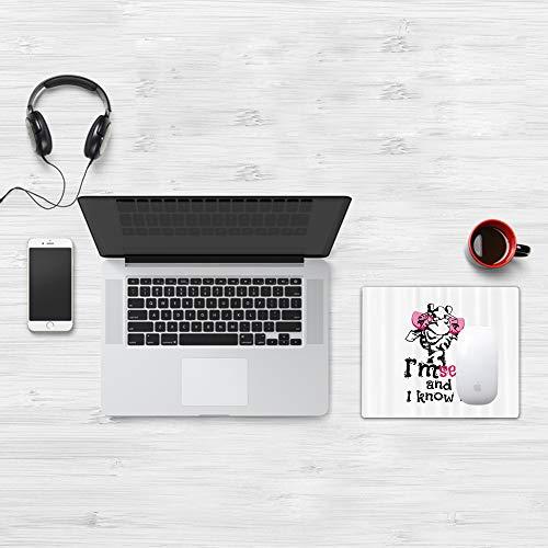 Mauspad Größe (32 x 25 cm),Giraffe Set, lustiges Tier in rosa Brille mit Zitat '' Ich bin sex,Mousepad Design Extra stark vernähter Rand und gummierte Unterseite geeignet für Office und Gaming mauspad