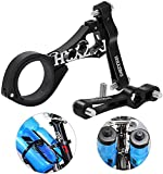 Bike Water Bottle Holder Adapter, BicycleStore Aluminium Alloy Double Bottle Cage Adapter Mount Adjustable Bicycle Handlebar Rack Mount for MTB Road Bike Bicycle (Black)