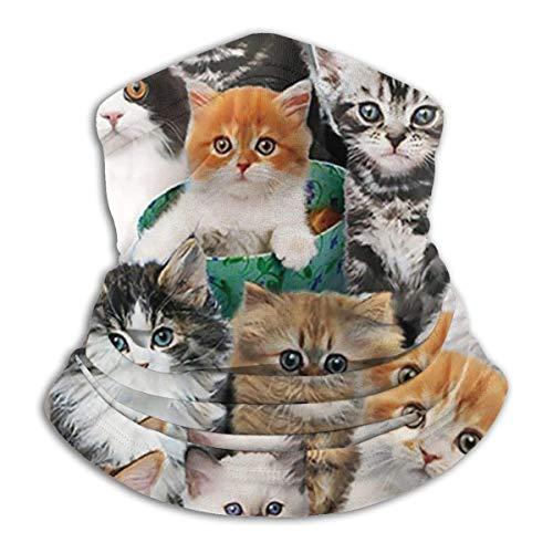 Mathillda fleece nekwarmer voor katten en katten, omkeerbaar