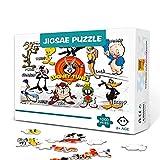 zhangkk Impossible Puzzle 300 Piezas Looney Tunes Back in Action300 Piezas Puzzle Adultos Adolescentes Entretenimiento Juguetes Regalo para la decoración de la Pared del hogar 38x26cm