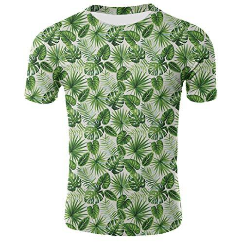 Divertida La Hoja Del Plátano Camisetas 3D Resumen Camiseta De Los Hombres De Manga Corta De Calle Arriba Tees 17 XL