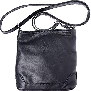 60 LaGaksta Mini Very Soft Italian Leather Crossbody Small Cell Phone Wallet  Purse Black 0d495faff0d83
