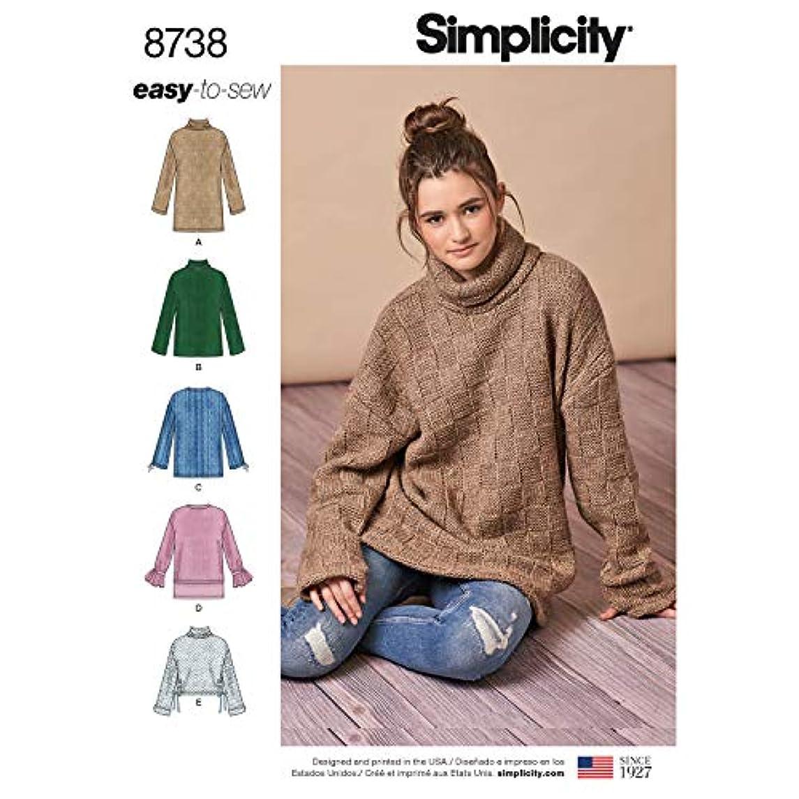 Simplicity Patterns US8738A Tops, Vest, JKTS, Coats, A (A (XXS-XS-S-M-L-XL-XXL)