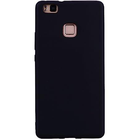 AICEK Coque Huawei P9 Lite, Noir Silicone Gel Etui Housse Huawei ...
