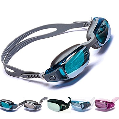 Aguaphile Mirrored Swim Goggles Soft and Comfortable - Anti-Fog UV Protection, Best Tinted Swimming Goggles with Case - Adult Men or Women, Premium Quality
