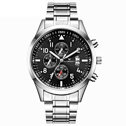 Armbanduhr Herren Chronograph Quarz Uhr Wasserdicht Casual Sport Design Männer Business Uhren Herrenuhr Klassisch Quarzuhr Analoguhr Sportuhr Celucke