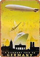 レトロな錫サインハッピー旅行ポスター12 x 8インチ装飾カフェファミリバーレストラン