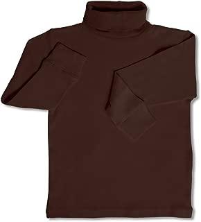 DinoDee Solid Girls Turtleneck 100% Cotton Kids Shirt (2 Toddler-10 Years) Variety Colors