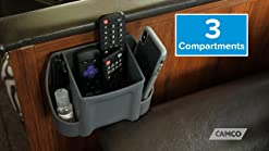 Easy Installation Compartments for Remotes of Various Sizes Features 3 Camco 43530 Large Remote Control Holder