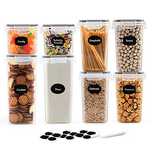 Robernet Recipientes para Cereales Almacenamiento de Alimentos, Jarras de Almacenamiento de Plástico...