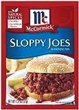 McCormick Sloppy Joes Seasoning Mix, 1.31 oz (Pack of 12)