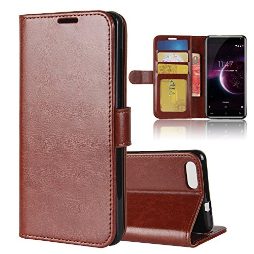 Forhouse Cubot Magic Case, Cubot Magic Wallet Case,Protective skin, Premium Slim Leather Wallet Back Case with Credit Card ID Holder Protective Cover for Cubot Magic,Brown