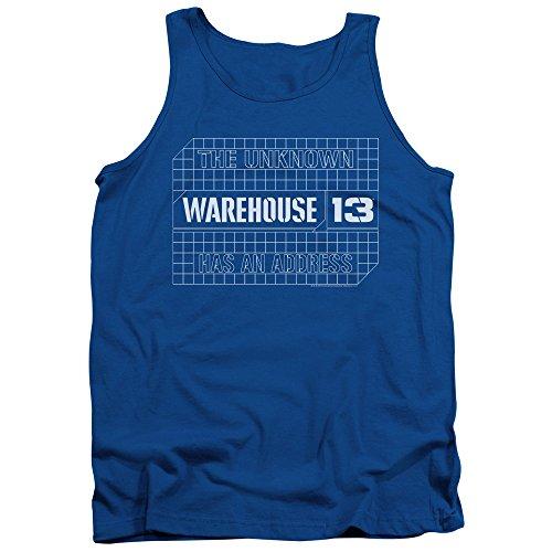 Warehouse 13 - - Blueprint Logo Hommes Débardeur, Small, Royal Blue