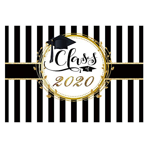 Black and White Striped Graduation Background