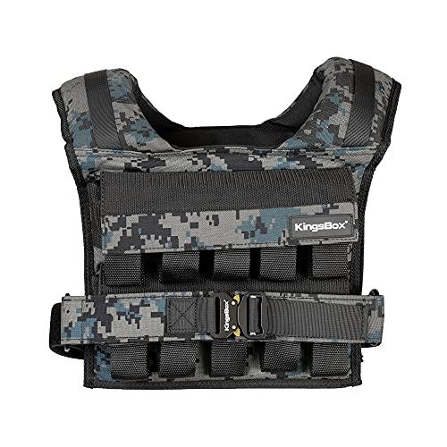KingsBox Elite Weighted Vest, Training, Fitness, Gym, Langlebig und Hochwertiges Material, Verstellbar, Max. Zusatzgewicht 20 kg, Zusatzgewicht wird Separat Erworben