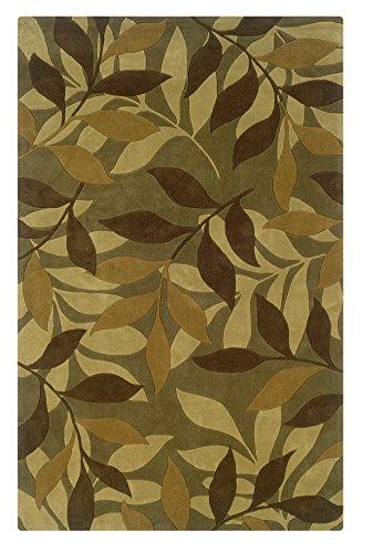 alfombra verde de la marca Linon