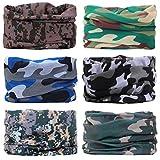 WharFlag Sports Headband Bandana - Face Bandana Scarf Neck Gaiter Multifunctional Headwear Breathable Seamless Bandana Headband Headwrap for Women Men