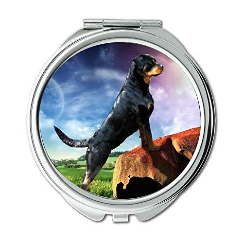 Yanteng Spiegel, Kleiner Spiegel, Bulldog Puppies Hunde Haustiere, Taschenspiegel, 1 X 2X Lupe