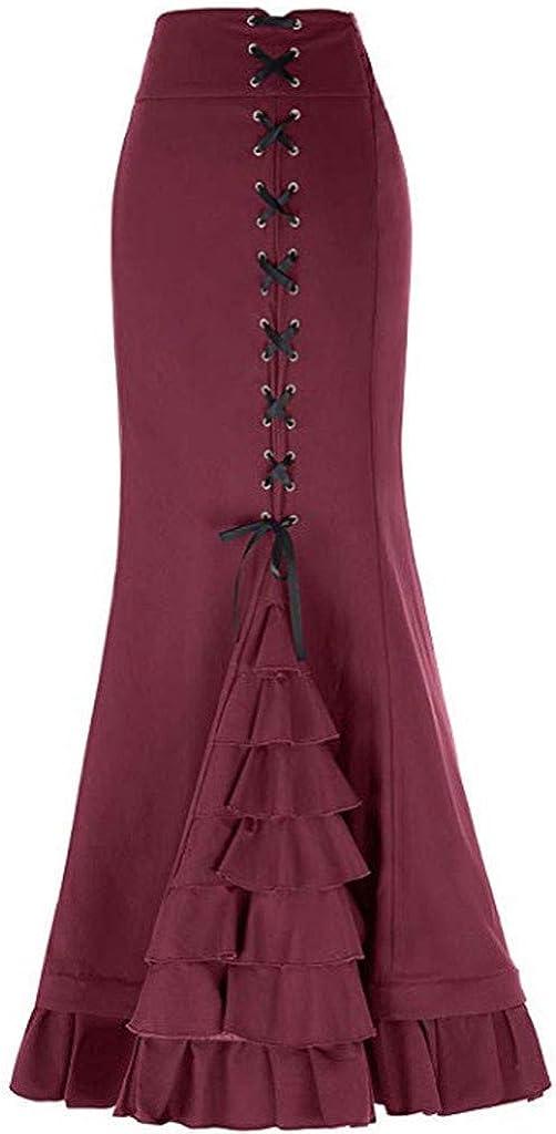 Vintage Womens Fashion Solid Color Bandage Mermaid Skirt