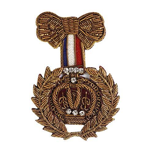 EMDOMO Fashion Vintage Bow Krans Ontwerp Indische Zijde Badges Kralen Crystal Applique Patches voor Broeken Blouse Kleding Versierd 1 stuk