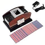 Best Automatic Card Shufflers - POWSTRO K Wooden Automatic Card Shuffle,2 Deck Casino Review