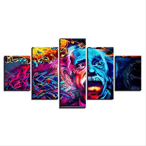 N/B 5 Leinwand Gemälde Wissenschaftler Edison Erfinder Farbe Zeichen Hauptdekoration Sprühmalerei Wandmalerei abstrakt