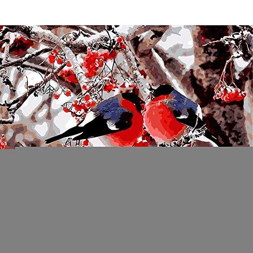 DIY 5D Diamond Painting Bordado Kits para Niños Amante de los pájaros 28 * 40in Picture Diamante Pintura Square Taladro Completo Mosaico Lienzo Punto de Cruz Art Crafts Decoración del Hogar