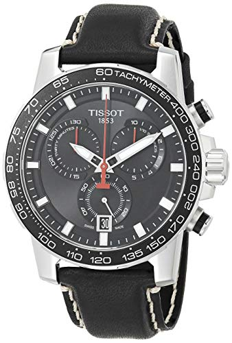 Tissot Herrenuhr Supersport Chrono Lederband schwarz T125.617.16.051.00