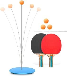 Zapatillas de Tenis de Mesa, elásticas y Suaves, con Base Antideslizante y Palas de Pelotas de Ping Pong, Equipo de Entrenamiento para Uso en Interiores y Exteriores