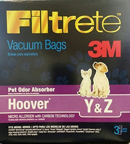 Filtrete 3M Hoover Pet Odor Absorber Vacuum BagsSpecial 6 boxes = 18 BAGS