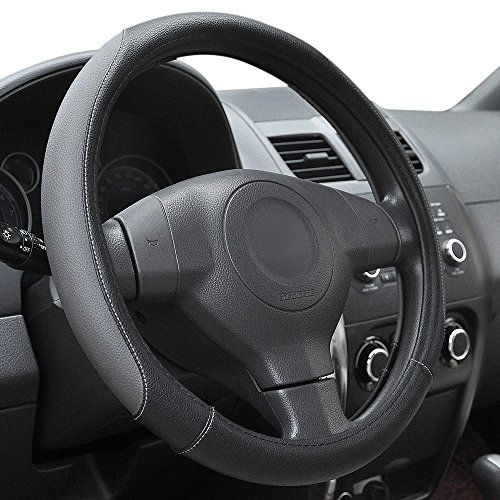 Elantrip Leather Steering Wheel Cover 14 1/2 to 15 inch Universal...