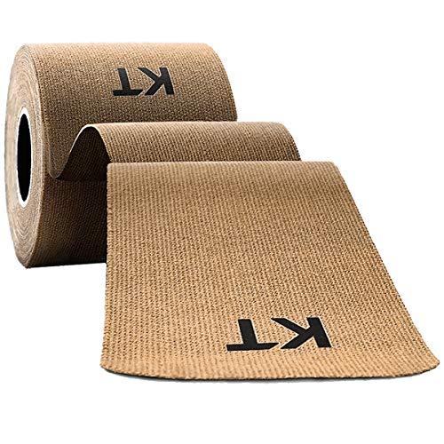 KT Tape Original Ungeschnittenes Kinesiologie-Tape aus Baumwolle, beige, 5 m