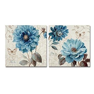 WAP0262-P2-SET A Blue Note by Lisa Audit Two Panel Art Set