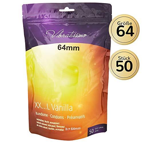 Amor Vibratissimo'MiTalla 64mm' 50 pack preservativos, condones para una sensación auténtica