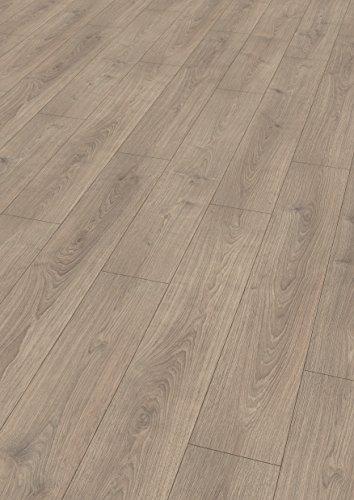EGGER Home Laminat grau Holzoptik - Nord Eiche sandbeige EHL045 (8mm, 1,985m²) Klick Laminatboden | Bodenbelag
