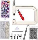 JIEERCUN Máquina de Inlay de Perla, Bricolaje Máquina de incrustación de Perlas Hecha a Mano, Botones de Remache de Perla para Sombreros/Bolsas/Faldas, Cuentas Bricolaje Accesorios Joyas